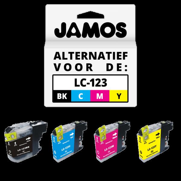 JAMOS Inktcartridges Alternatief voor de Brother LC-123 Voordeelset