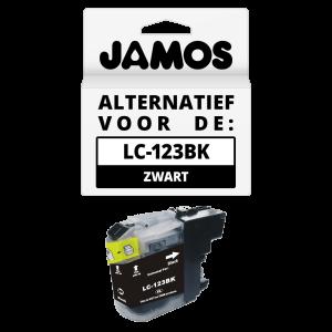 JAMOS Inktcartridge Alternatief voor de Brother LC-123BK Zwart