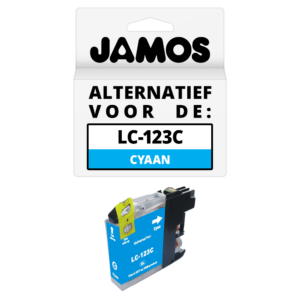 JAMOS Inktcartridge Alternatief voor de Brother LC-123C Cyaan