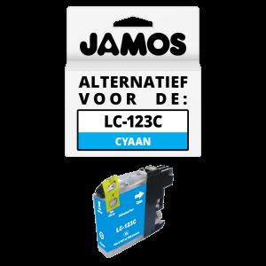 JAMOS Inktcartridge Alternatief voor de Brother LC-123C Cyaan
