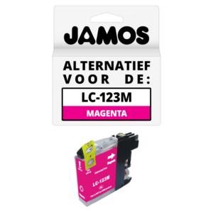 JAMOS Inktcartridge Alternatief voor de Brother LC-123M Magenta