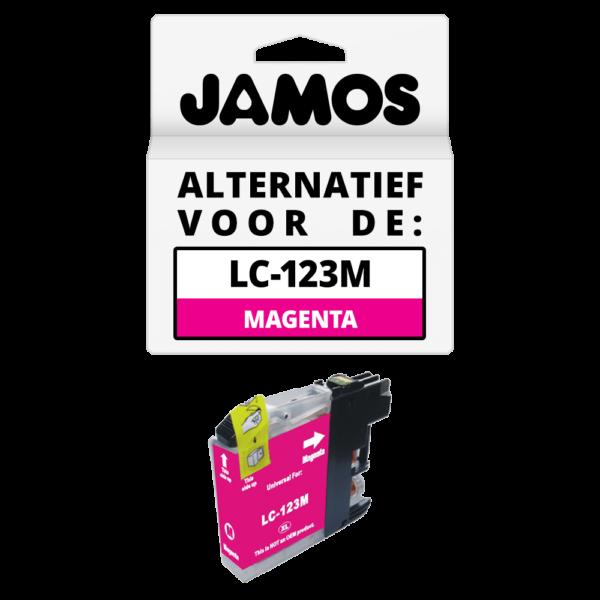 JAMOS Inktcartridge Alternatief voor de Brother LC-123M Magenta