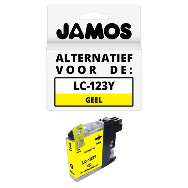 JAMOS Inktcartridge Alternatief voor de Brother LC-123Y Geel