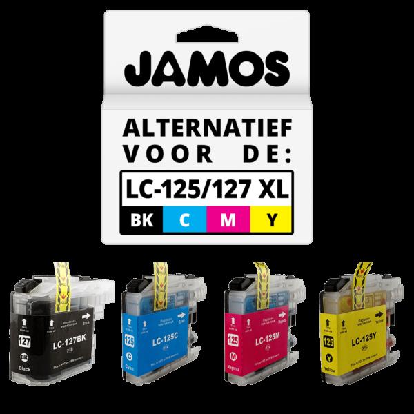 JAMOS Inktcartridges Alternatief voor de Brother LC-125XL & LC-127XL Voordeelset