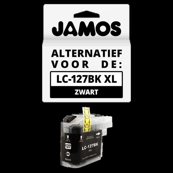JAMOS Inktcartridge Alternatief voor de Brother LC-127BK XL Zwart