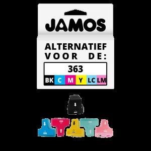 JAMOS Inktcartridges Alternatief voor de HP 363 Zwart & Kleuren Voordeelset