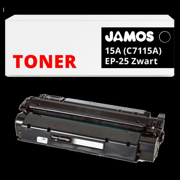 JAMOS Tonercartridge Alternatief voor de HP 15A Zwart C7115A Canon EP-25 Zwart