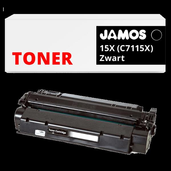 JAMOS Tonercartridge Alternatief voor de HP 15X Zwart C7115X