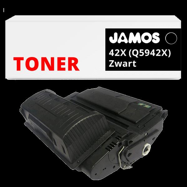 JAMOS Tonercartridge Alternatief voor de HP 42X Zwart Q5942X