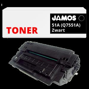 JAMOS Tonercartridge Alternatief voor de HP 51A Zwart Q7551A
