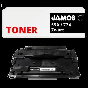 JAMOS Tonercartridge Alternatief voor de HP 55A Zwart CE255A