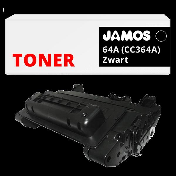 JAMOS Tonercartridge Alternatief voor de HP 64A Zwart CC364A