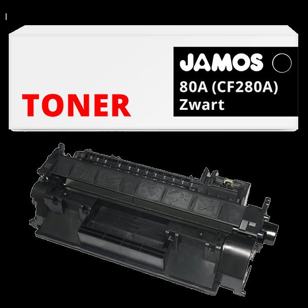 JAMOS Tonercartridge Alternatief voor de HP 80A Zwart CF280A