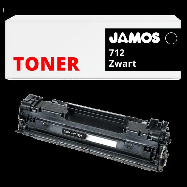 JAMOS Tonercartridge Alternatief voor de Canon 712 Zwart