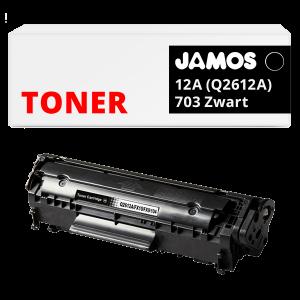 JAMOS Tonercartridge Alternatief voor de HP 12A zwart Q2612A Canon 703 Zwart