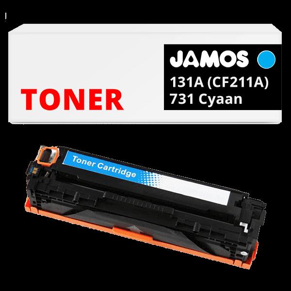 JAMOS Tonercartridge Alternatief voor de HP 131A CF211A & Canon 731 Cyaan