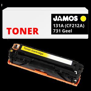 JAMOS Tonercartridge Alternatief voor de HP 131A CF212A & Canon 731 Geel