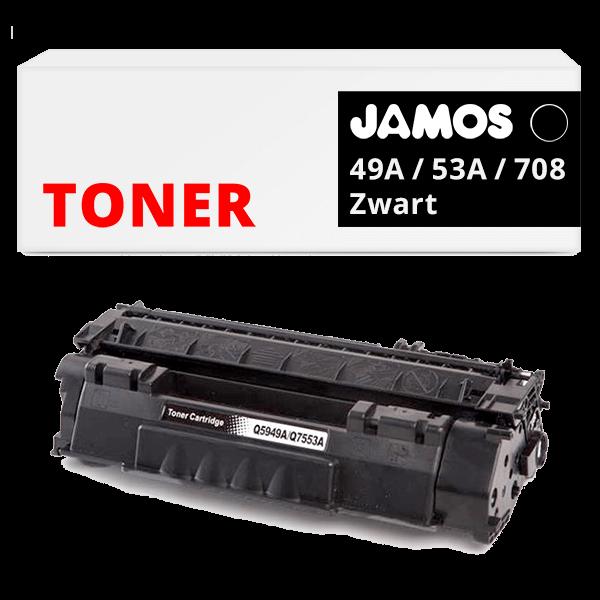 JAMOS Tonercartridge Alternatief voor de HP 49A Zwart Q5949A