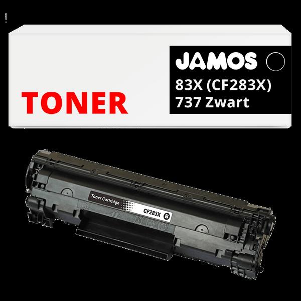 JAMOS Tonercartridge Alternatief voor de HP 83X Zwart CF283X