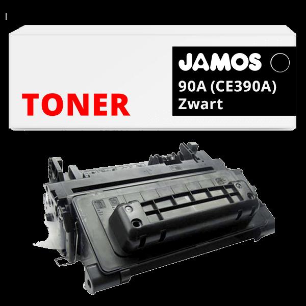 JAMOS Tonercartridge Alternatief voor de HP 90A Zwart CE390A