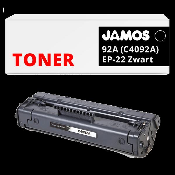 JAMOS Tonercartridge Alternatief voor de HP 92A Zwart C4092A