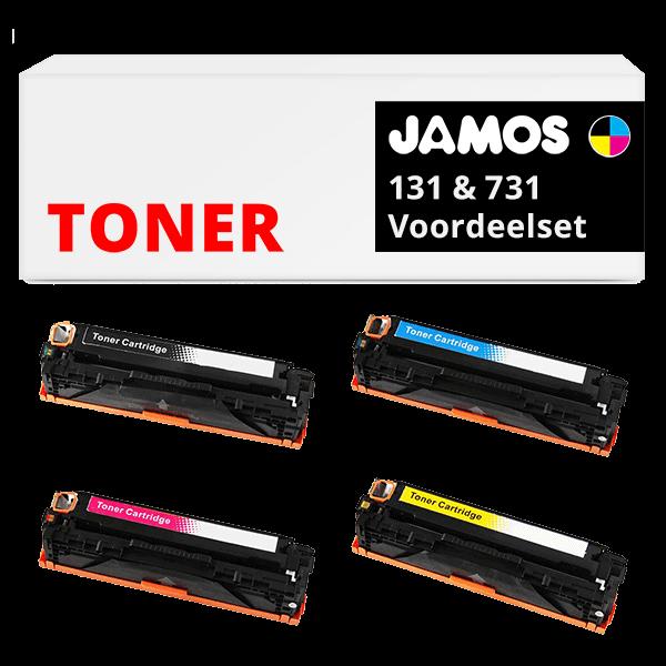JAMOS Tonercartridges Alternatief voor de HP 131 Canon 731 Voordeelset