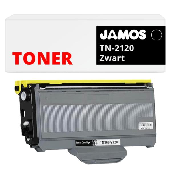 Jamos-Tonercartridge-Alternatief-voor-de-Brother-TN-2120-Zwart