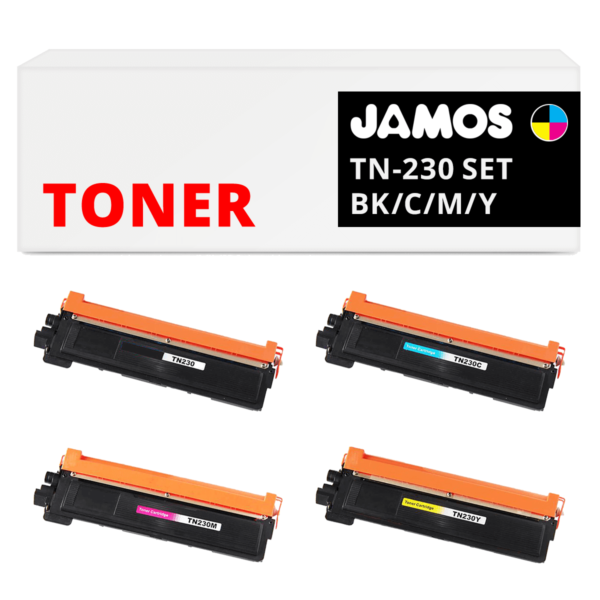 JAMOS Tonercartridge Alternatief voor de Brother TN-230 Voordeelset