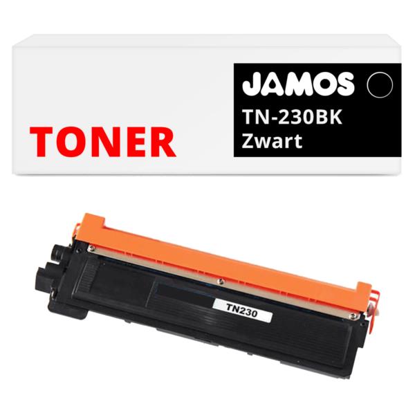 JAMOS Tonercartridge Alternatief voor de Brother TN-230BK Zwart