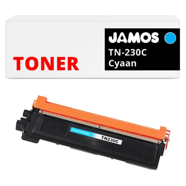 JAMOS Tonercartridge Alternatief voor de Brother TN-230C Cyaan