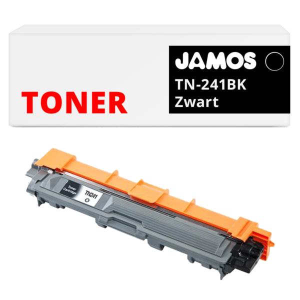 JAMOS Tonercartridge Alternatief voor de Brother TN-241BK Zwart