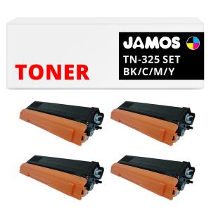 JAMOS Tonercartridge Alternatief voor de Brother TN-325 Voordeelset