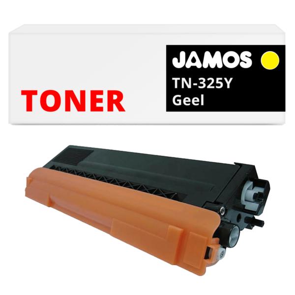 JAMOS Tonercartridge Alternatief voor de Brother TN-325Y Geel