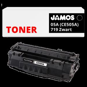 JAMOS Tonercartridge Alternatief voor de HP 05A CE505A Canon 719 Zwart