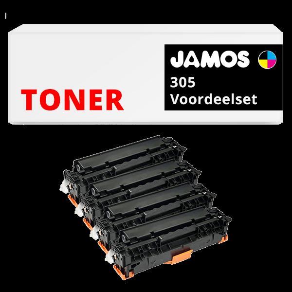 JAMOS Tonercartridges Alternatief voor de HP 305 Voordeelset