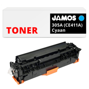 JAMOS Tonercartridge Alternatief voor de HP 305A Cyaan CE411A