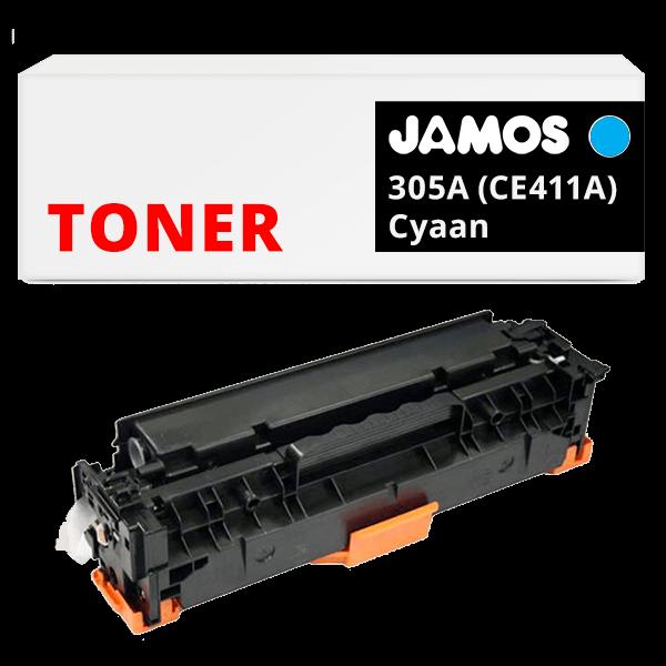 JAMOS Tonercartridge Alternatief voor de HP 305A Cyaan CE411A