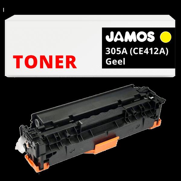 JAMOS Tonercartridge Alternatief voor de HP 305A Geel CE412A