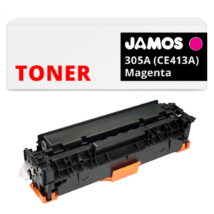 JAMOS Tonercartridge Alternatief voor de HP 305A Magenta CE413A