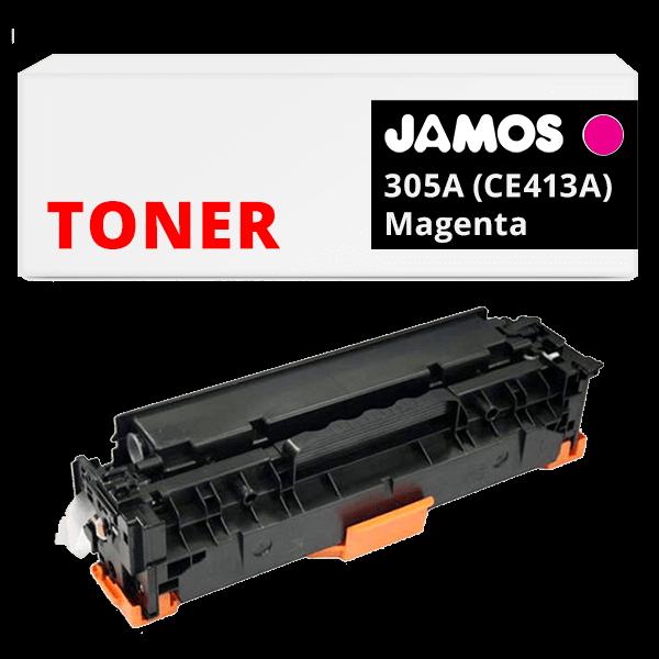 JAMOS Tonercartridge Alternatief voor de HP 305A Magenta CE413A