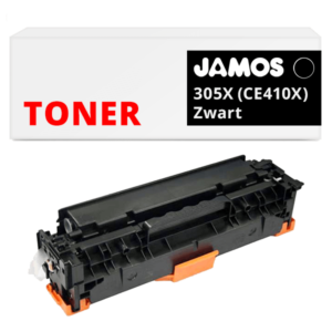 JAMOS Tonercartridge Alternatief voor de HP 305X Zwart CE410X