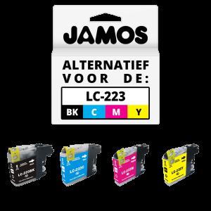 JAMOS Inktcartridges Alternatief voor de Brother LC-223 Voordeelset