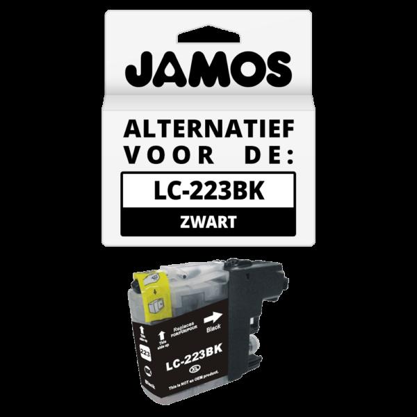 JAMOS Inktcartridge Alternatief voor de Brother LC-223BK Zwart