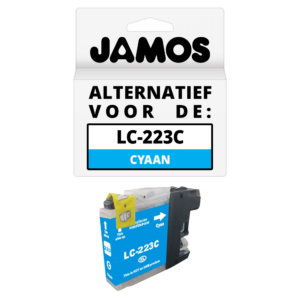 JAMOS Inktcartridge Alternatief voor de Brother LC-223C Cyaan