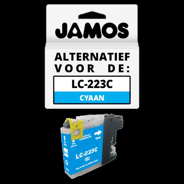 JAMOS Inktcartridge Alternatief voor de Brother LC-223C Cyaan