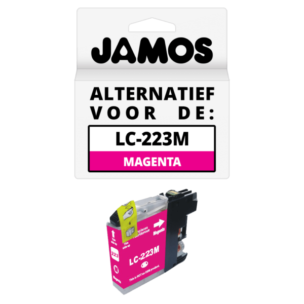 JAMOS Inktcartridge Alternatief voor de Brother LC-223M Magenta