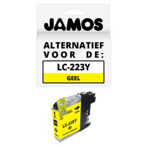 JAMOS Inktcartridge Alternatief voor de Brother LC-123Y Geel