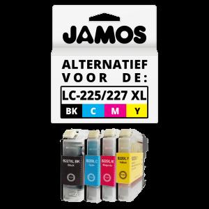 JAMOS Inktcartridges Alternatief voor de Brother LC-225XL & LC-227XL Voordeelset