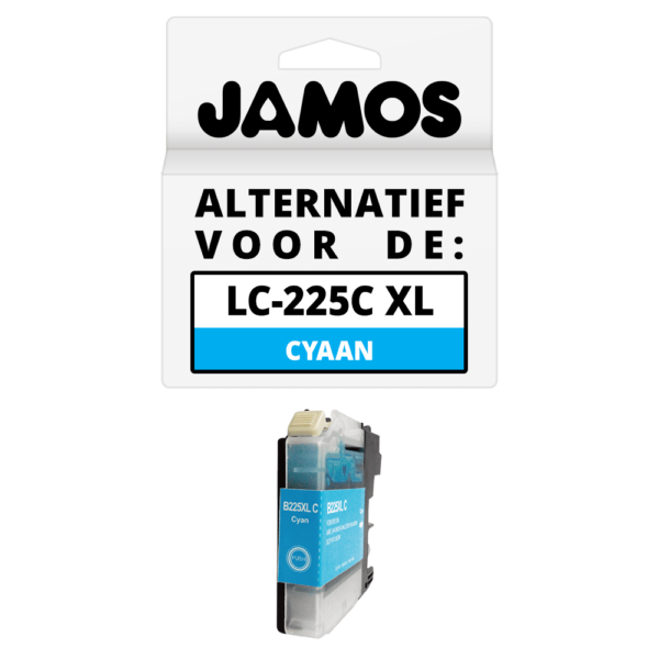 JAMOS Inktcartridge Alternatief voor de Brother LC-225C XL Cyaan