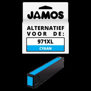 JAMOS Inktcartridge Alternatief voor de HP 971XL Cyaan